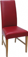 Marlow Wooden Side Chair with Upholstered Seat & Back in Red